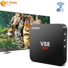 2016 V88 4K Smart TV Box RK 3229 1G/8G 4 USB 10-bit 60fps WiFi Android 5.1 Tv BoxFull Loaded Quad Core 1.5GHZ KODI Media Player