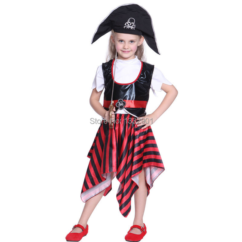 Pirate Kids Costume With Hat Book Week Boys Girls