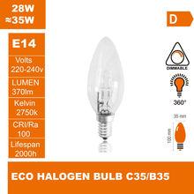 ECO halogen lamp C35 220-240V 28W E14 Halogen light halogen bulb(China (Mainland))