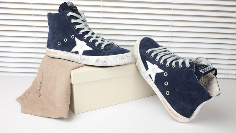 2015 Golden Goose Deluxe Brand Superstar GGDB Sneakers,Man and Women Breathable High Top Blue Francy Shoes<br><br>Aliexpress