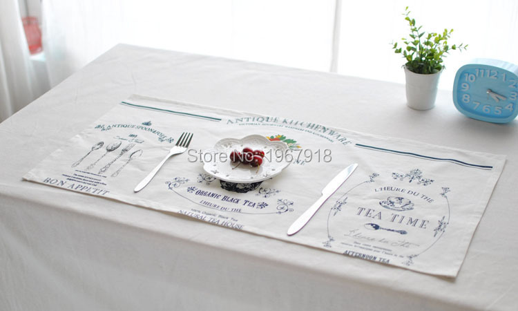Linen Placemat rustic dining table mat disc pads bowl pad coasters wedding table cloth pad slip-resistant pad (4)