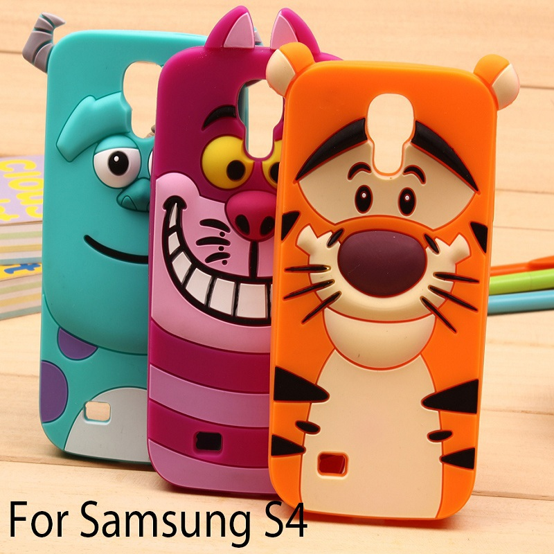 3D Monsters University sulley tiger Alice cat soft silicon back cover cute Cartoon phone case samsung galaxy s4 I9500 YC169  -  LOVECOM Store store