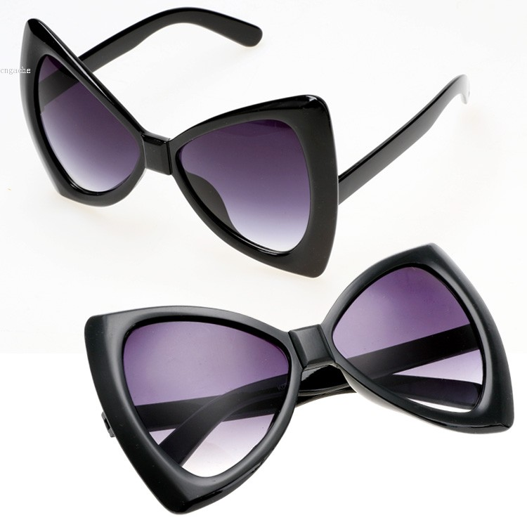 New 2015 fashion sunglasses women sun glasses european style bowknot frame big eyewear shades What style glasses are in fashion 2015