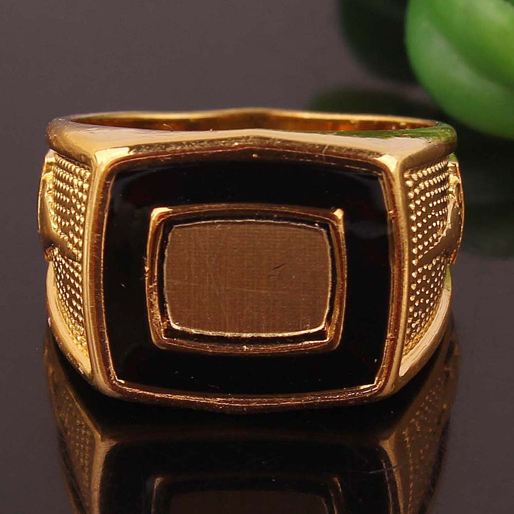 2015 new style 18k gold plated inlay vintage rectangle Vintage style fashion rings