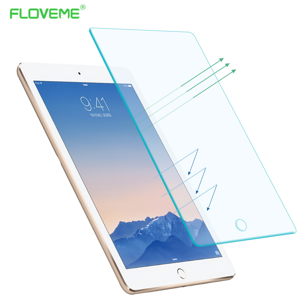 Tempered Reinforced Glass Screen Protector Case For iPad 2 3 4 /5 Air For iPad Mini 1 2 3 4 Clear Front Film With Retail Box(China (Mainland))