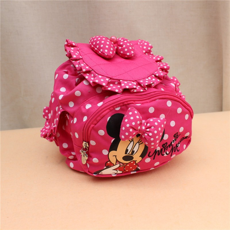 2015 New Arrived Hello Kitty Schoolbag Kids' Backpack Children Loved Bow Mickey Minny, Red,Roseo,Part Free Shipping Wholesale(China (Mainland))