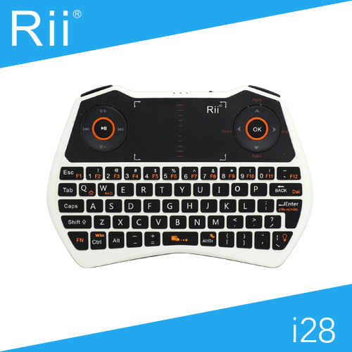 [Free Shipping] Original Rii i28 2.4G Wireless Mini Keyboard/Air Mouse for Android TV Box/Smart TV with Backlight White Color(China (Mainland))