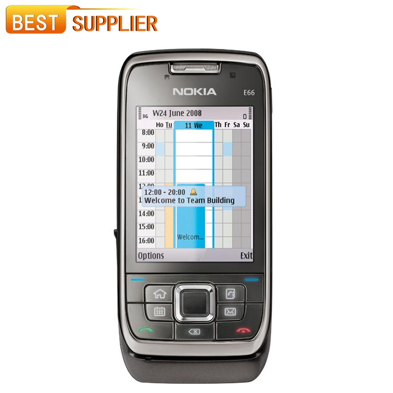 2016 Rushed Original Unlocked Nokia E66 Wifi Gps Bluetooth Mobile Phone English/russian Keyboard In Stock Fast and Shipping(China (Mainland))
