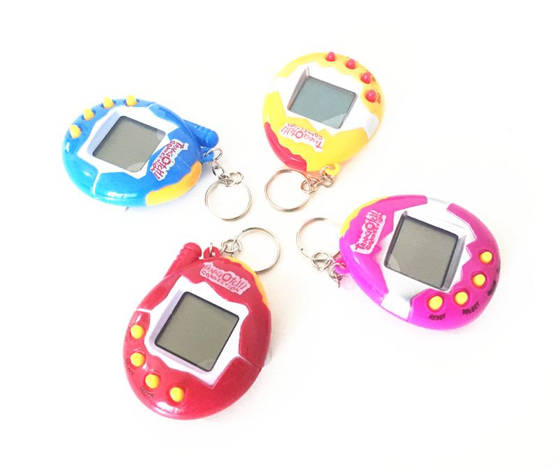 Hot Explosion Models Retro Keychain Keychain Multicolor Optional Color Electronic Pet Can Be Used for Gifts