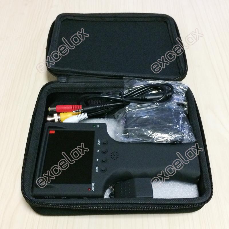"""3 5 """"ЖК дисплей CVBS аналоговая камера для видеонаблюдения Тесты er 640x480 видео Analog CCTV tester 352_201704 (8)2"""