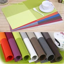 1pc Table Mats Placemat  8 Colors Decoration PVC Kitchen Table Mats Dinning Waterproof Table Cloth Free Shipping(China (Mainland))