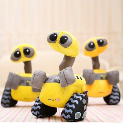 F9622 10Piece/Lot 28CM 2015 Cute Cartoon Robot Wall Plush Toys Soft Christmas Gift