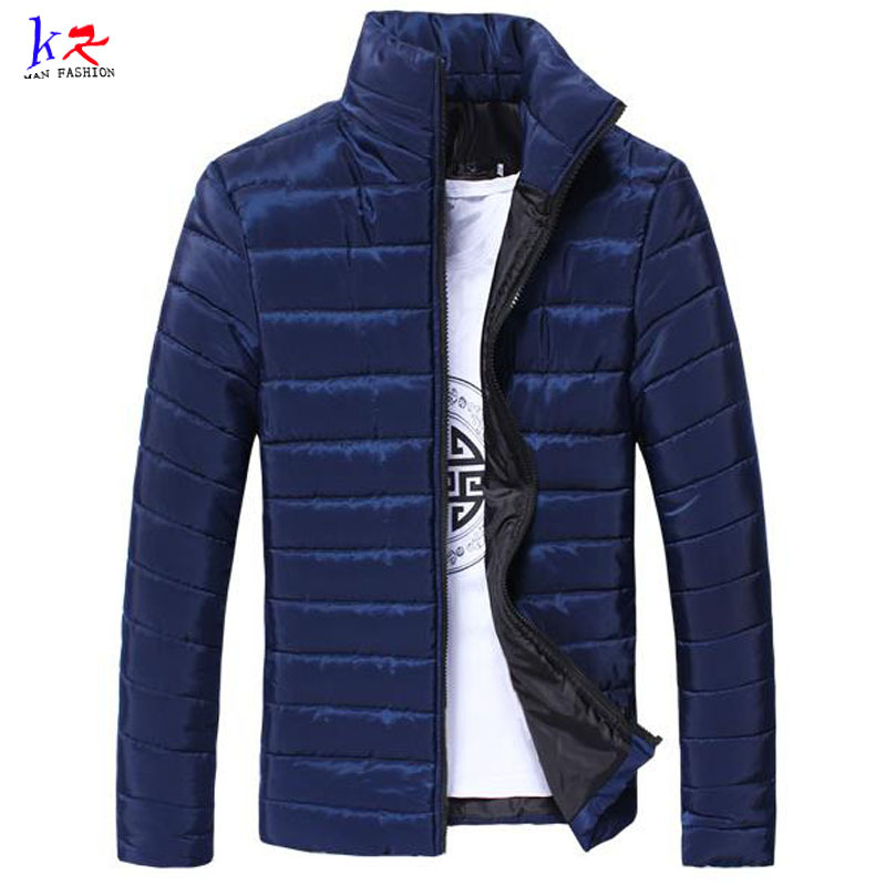 Sale 2015 New Men' Winter Jackets Stand Collar Zipper Fly High Quality Plus Size 3XL Men's Winter Coat , Men Down Jackets 15E38(China (Mainland))