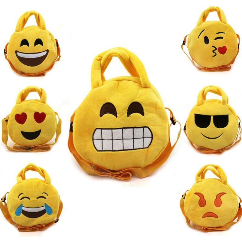 Novelty Emoji Small Storage bag Smiley Emoticon Soft Plush children Toys Key&Bag Chain Phone Strap A45(China (Mainland))