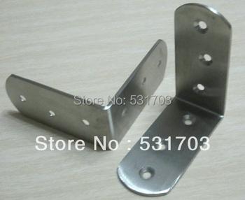 85X85MM Stainless Steel Bracket, Corner Bracket,Furniture Fittings, Angle Bracket, Shelf Bracket: Free Shipping