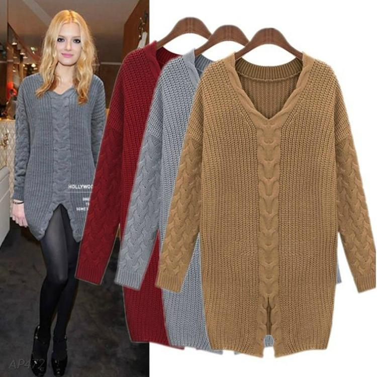Free Sweater Dress Knitting Pattern Patterns Sweaters And Pullovers Woman Kni...