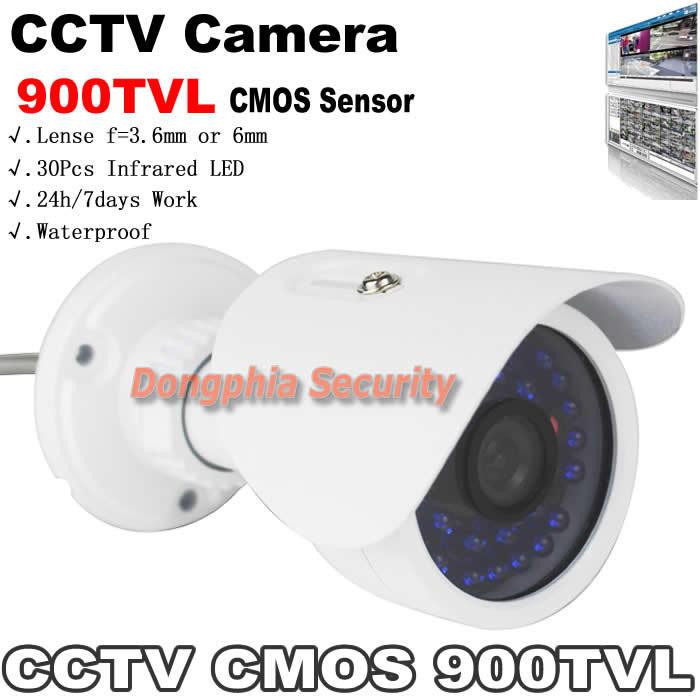 900TVL Security Camera Outdoor Color Image Night Vision With 30Pcs IR Leds 1/4'' CMOS Sensor IR Surveillance Camera Waterproof
