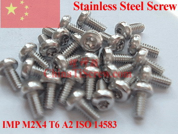 Stainless Steel Screws M2x4 ISO 14583 Pan Head Torx T6 Driver A2-70 Polished - ChinaTiScrew store