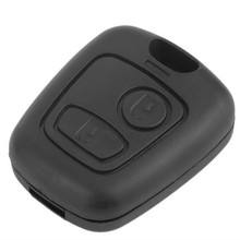 Remote Key Shell Case 2 Buttons for Peugeot 306 307 406 407 106 107 206 207 Car Alarm Housing Cover(China (Mainland))