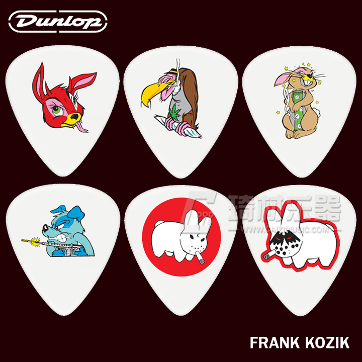 Min Order 6PCS Genuine Dunlop Collection Series Frank Kozik Picks Jazz Guitar Picks Acoustic Guitar Parts Guitarra Accessories(China (Mainland))