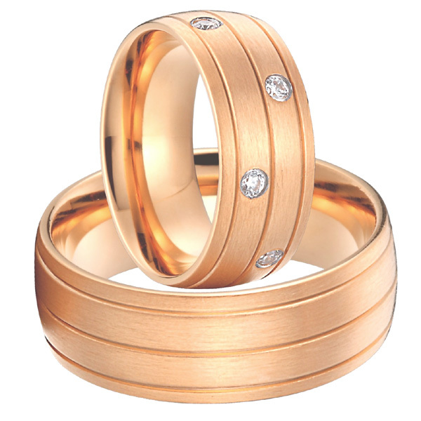 Здесь можно купить  18k rose gold plated alliances anel Custom titanium jewelry big wedding promise rings sets for men and women 18k rose gold plated alliances anel Custom titanium jewelry big wedding promise rings sets for men and women Ювелирные изделия и часы