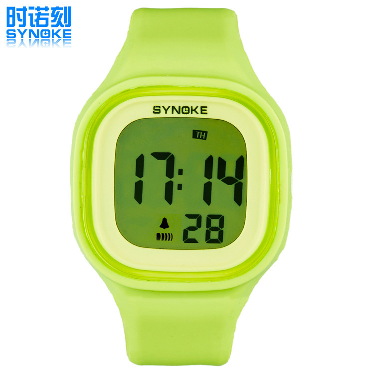 New 7 Color Luminous Lamp Swimming Waterproof Jelly Table Student Electronic Silicone Watch 66896 Sports Watch Free Shipping(China (Mainland))