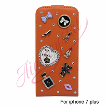 Aidocrystal different color Business & Fashion Flip Leather Cover Case For iphone 7 plus Case Mobile Phone Cover