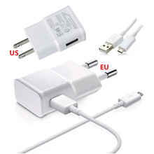 100% Genuine original 2A EU/US Plug Wall Charger + Micro USB Charger Cable For Samsung Galaxy S4 S3 for HTC M8 M7 for LG G2 G3(China (Mainland))