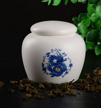 New 2015 on-glazed bone china storage ceramics 6*6.5cm tea caddy tea&coffee tools jar storage cans