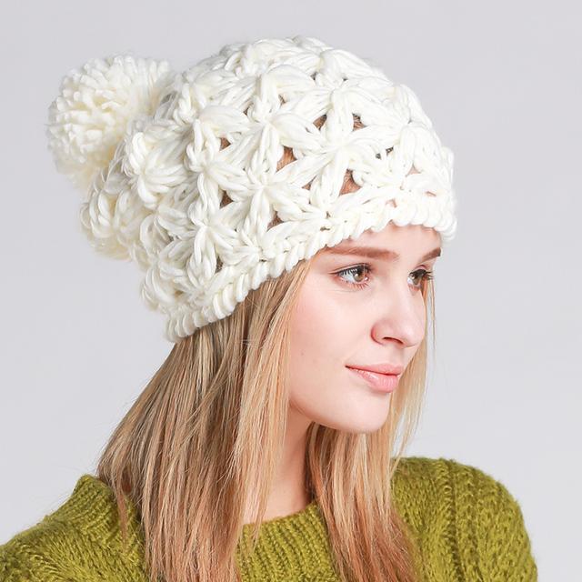 2015 новых осенью и зимняя шапка для женщин вязаный шерстяной шапки с защитой шапочки ...