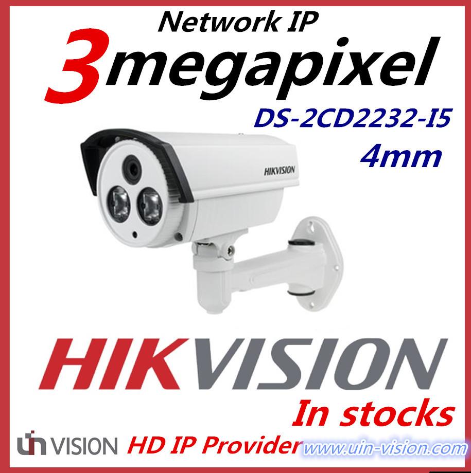 IP camera DS-2CD2232-I5 1080P 3 Megapixel IR bullet network Camera POE IP camera with bracket 4mm(China (Mainland))