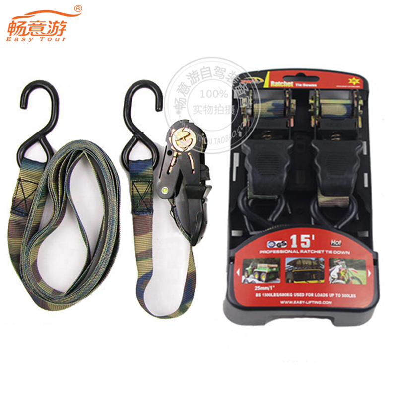 Driving essential equipment off-road vehicle roof Ratchet Tie baggage tied with rope tensioners(China (Mainland))