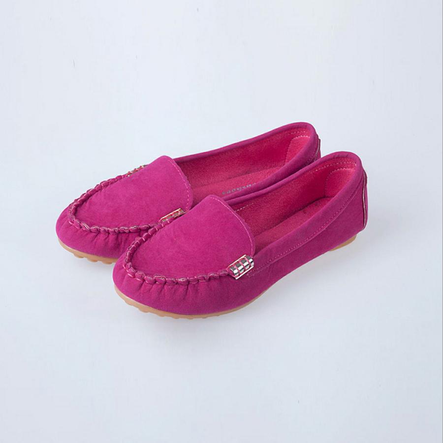 Fall/winter Casual Women Flat Shoes Metal Buckle Shoes ...