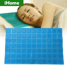 DIY Comfort Cooling Gel Pillow sheet Neck Improve Sleeping Healthy Massage Effective Headrest Cushion Cold pad for Summer Colded(China (Mainland))