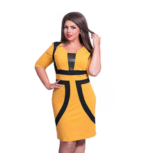 Buy 2017 New Brand Women Dress Plus Size 6XL Vestidos Felame Ladies Knee Length Patchwork Casual Pencil Dresses Party Oversized for $10.59 in AliExpress store