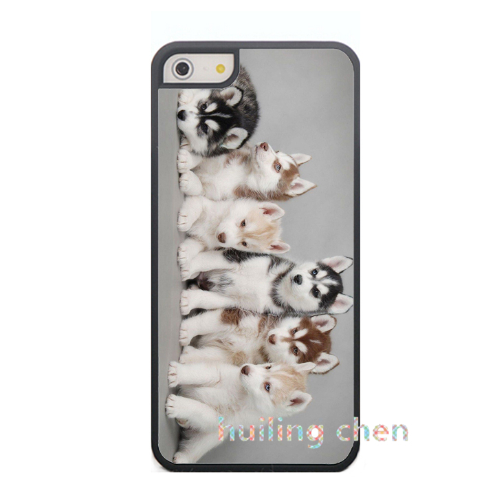 siberian husky puppies dogs fashion original cell phone case cover for iphone 4 4s 5 5s 5C 6 6plus Q85(China (Mainland))