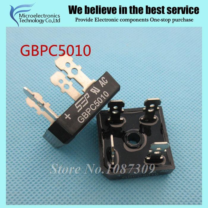 5pcs free shipping GBPC5010 Bridge Rectifiers 1000V 50A Bridge Rectifier new original(China (Mainland))