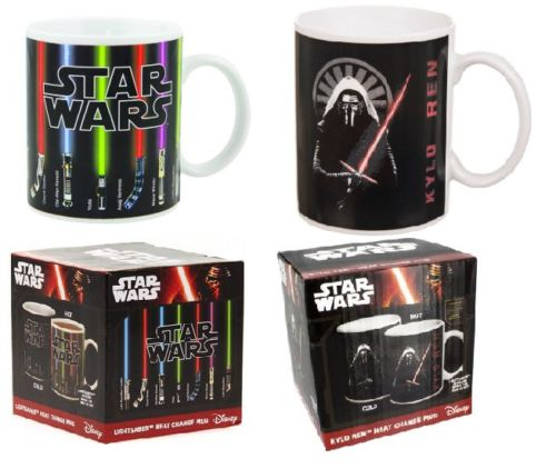 Star Wars Lightsaber /Kylo Ren Heat Reveal Mug Color Change Coffee Cup Sensitive Ceramic Mug Temperature sensing Birthday Gift(China (Mainland))