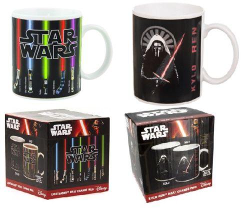 Star Wars Lightsaber /Kylo Ren Heat Reveal Mug Color Change Coffee Cup Sensitive Ceramic Mug Temperature sensing Birthday Gift(China (Mainland))