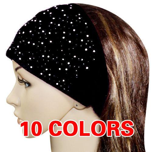 NEW Turban Twist cotton Headband women head wrap Soft hair band LADY Rhinestone HEADWEAR Free Shipping(China (Mainland))