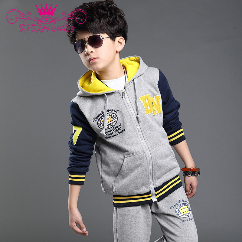 Retail Children Clothing Set High Quality 2015 kids Clothes Suit Mother Father Son Coat+Blouse+Pants Casual Sports Sets 10(China (Mainland))