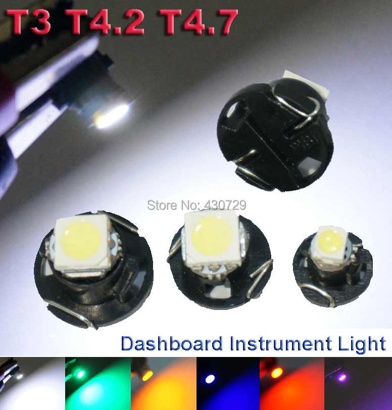 10X T3 T4 2 T4 7 LED Neo Wedge Switch Radio Climate Control Bulb Instrument Dashboard
