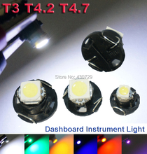 10X T3 T4.2 T4.7 LED Neo Wedge Switch Radio Climate Control Bulb Instrument Dashboard Dash Indicator Light Bulb Ac Panel Bulb