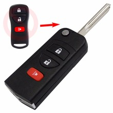 With Sticker 3 Buttons Remote Flip Folding Key Shell Case Fob for Nissan Infiniti Xterra Frontier Muranon PATHFINDER TITAN(China (Mainland))