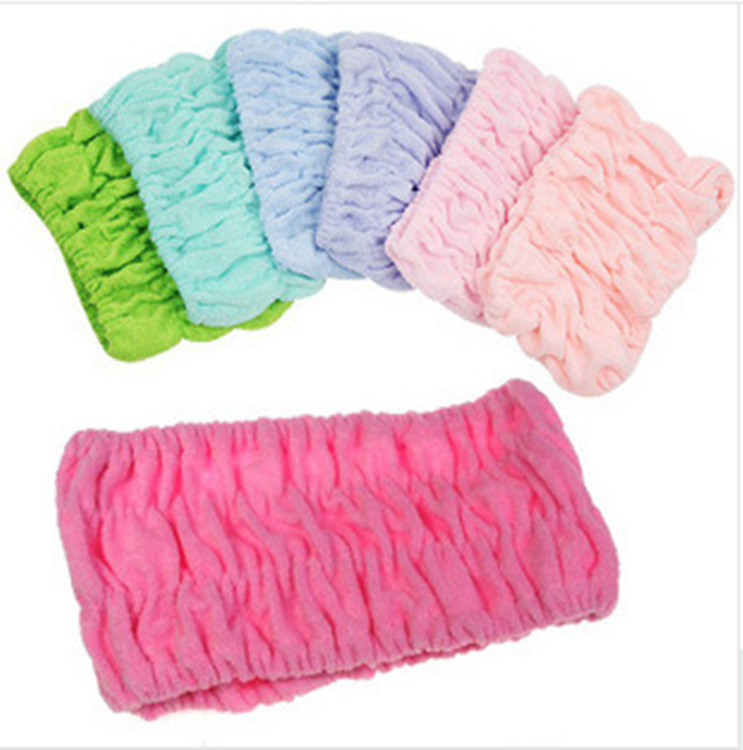 Novelty Beauty cosmetology makeup Bathing Wash face Stretch cotton headband towel Hair turban Necessary supplies(China (Mainland))