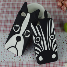 New Cute White&Black Lovely cell phone case for Iphone 5 5s back cover rubber dog hood Hood Shell Housing Bag(China (Mainland))