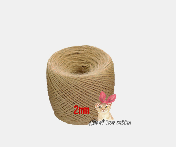 2015 Zakka new DIY Natural COLOR Jute Rope Twine 200M Decorative Handmade Accessory Hemp Rope/Hemp cord GL201502MM(China (Mainland))