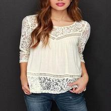 Summer Women Chiffon Crochet Lace vest Blouse Shirt Sexy Open Back sleeveless shirt tank tops Black(China (Mainland))
