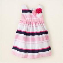 Kids Baby Casual Sleeveless Stripes Dress Toddler Girl Floral Sundress