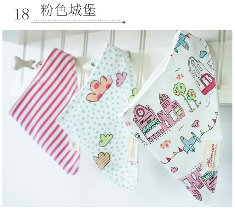 Free shipping 3pc lot 100 cotton baby boys and girls bibs baby towel bandanas chiscarf ldren